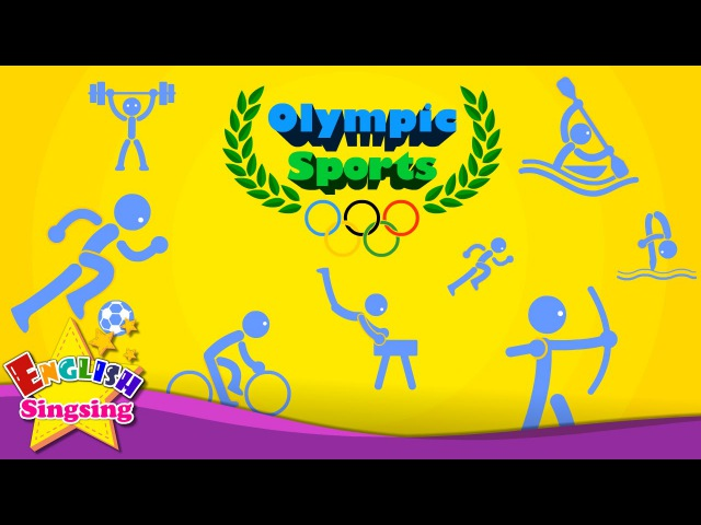 Kids vocabulary - Olympic Sports - Game of Sports - Learn English for kids - educational video