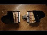 Огромная разница между двумя настроенными роялями.