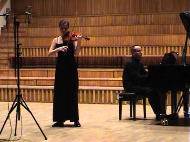 C Saint Saens E Ysaye Etude in the Form of a Waltz Marta Kowalczyk violin