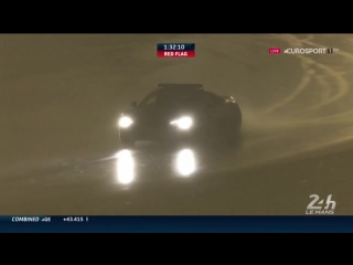 Le Mans 24 2016. Safety Car rain drifting in Q3!