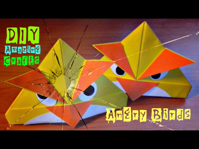 DIY. How To Make Origami ANGRY BIRDS. Funny 3D Crafts. Easy Tutorial For Children and Beginners