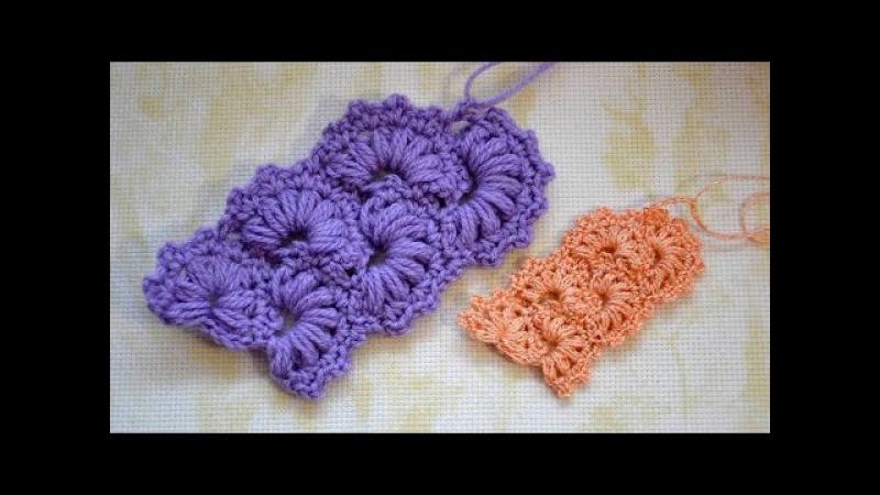 Вяжем крючком Ленточное кружево №1. Crochet Lace Strip