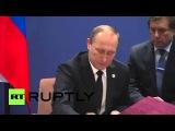 Франция: Путин встретился с Президентом Перуанской Хумала на обочине КОП21.