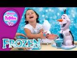 HAPPY MILA TV - HOW TO MAKE SNOW CONES - OLAF SNOW CONE MAKER - FROZEN