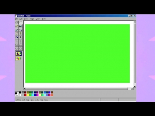 Windows paint border tumblr green screens