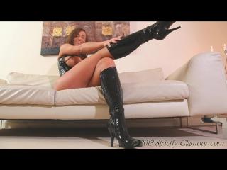 Glamour ∞ Stacey Hot girl Nice big ass High heels boot Big Tits boobs Сексуальная девушка в сапогах с большими сиськами Попка