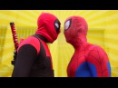 Deadpool vs Spiderman FIGHT - Real Life Parkour for kids Screen Team