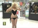 Blonde strips in public funny Candid camera Romanian TV girls hot women - Lexy Chan