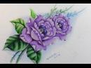 Método Prático de Pintura em Tecido - Rosas Lilás