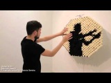 Artist Daniel Rozins incredible mirror reflects images using pom poms