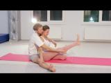 Парная йога. Практика. Чувственная помощь партнёра в освоении поз. Видео-урок 34