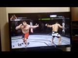весёлый баг в игре UFC