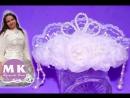 Мастер класс Канзаши Цветы из органзы Свадебная диадема Wedding tiara of flowers kanzashi