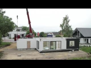 Строительство каркасного дома с плоской кровлей в Германии
