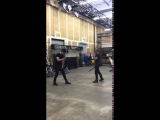 Matt Daddario &amp Dom Sherwood choreographed fight - Shadowhunters - Recorded by Cassie Clare