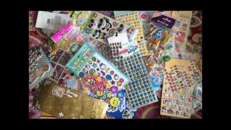 Украшения для блокнотов,лд и смешбука. Мои обьёмные наклейки,огромная коллекция.