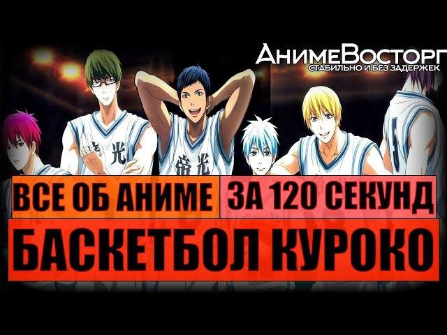 Все об аниме Баскетбол Куроко за 120 секунд / Kuroko no basuke