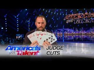 Jon Dorenbos: Football-Playing Magician Earns Golden Buzzer From Ne-Yo - America's Got Talent 2016