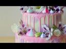 Как собрать двухъярусный торт и украсить живыми цветами