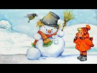 Снеговик   веселая новогодняя песня Новый год 2016 Детские новогодние песни