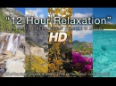 12 HOURS OF NATURE RELAXATION w/ Music - Mountains, Forests, Oceans, More 1080p