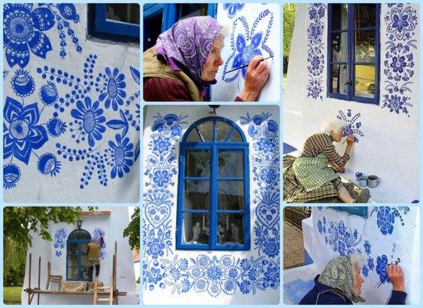 Бабушка Анна и её ультрамариновая роспись