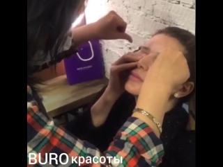 Коррекция бровей нитью | Buro Красоты
