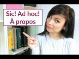 Ad hoc, qui pro quo, sic! - OCB