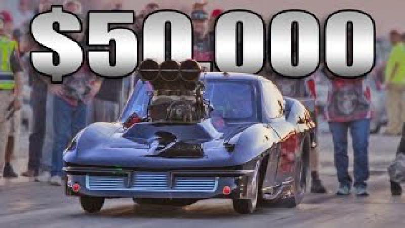 Texas GRIM REAPER Corvette $50,000 win @ NO PREP!
