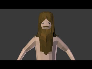 [timelapse][modelling] low poly naked jesus for tydyshTV