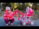 "Pram ""Masha and the Bear""Парк развлечений ,Коляска ""Маша и Медведь""Прогулка с малышом игрушки киндер"
