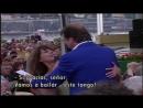 Lill Lindfors Lasse Berghagen and the audience Fritiof och Carmencita Allsång På Skansen 1996