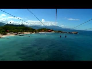 Самый длинный в мире спуск над водой А вы бы прокатились
