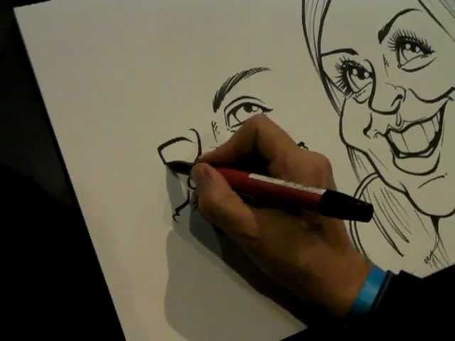 Live Caricature By Mick Hollinworth At Featherstone Rovers, www.mickscaricatures.co.uk