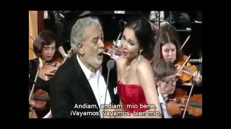 Plácido Domingo - Aida Garifullina - La ci darem la mano de Don Giovanni de Mozart (español)