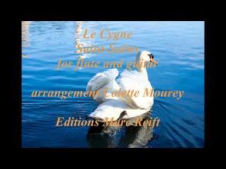 Le Cygne, Saint-Saëns, for flute and guitar, arrangement Colette Mourey, Editions Marc Reift