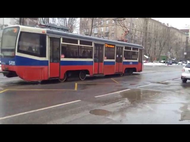 Поездка на трамвае 71-619 маршрут 37/5491