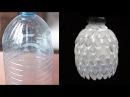 DIY: Como fazer luminária de garrafa pet e colheres de plástico linda!!