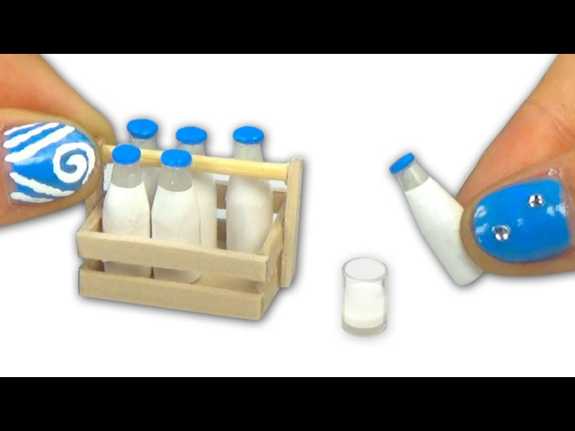 Miniature milk bottle and milk bottle holder or carrier tutorial DIY - YolandaMeow♡
