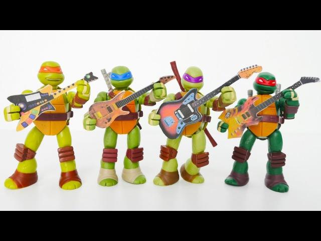 Harika oyuncaklar Asrın Ninja Kaplumbağalara Gitar Öğretiyor Çevrimiçi video izle