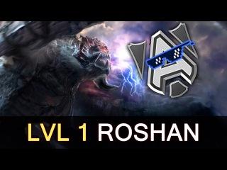 Alliance level 1 Roshan before creeps vs Empire — Dota 2