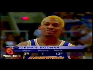 Dennis Rodman Makes Free Throw with his Eyes Closed! (Lakers vs Suns 1999)