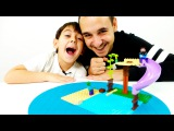Видео для детей Папа Роб и Ярик! Игры Майнкрафт! Стив против Зомби! Лего игры.