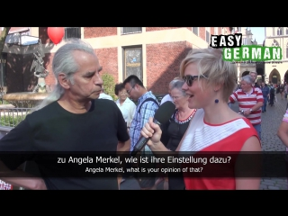 Easy German 40 - Election campaigning with Angela Merkel