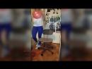 Amateur Belly Dance - Best Blonde Looner Girl in Blue Yoga Pants Spotted on YouTube Blow Pop, Sit Pop!