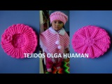 Boina tejido a crochet para bebe o ni