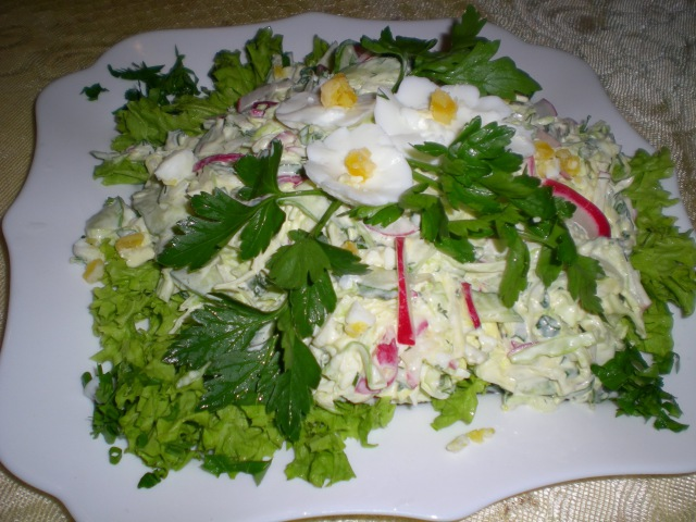 Салат из свежей капусты Готовим дома Очень вкусно
