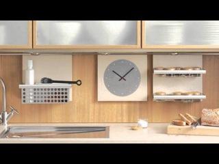 Часы в интерьере кухни:оригинальные настенные кухонные часы