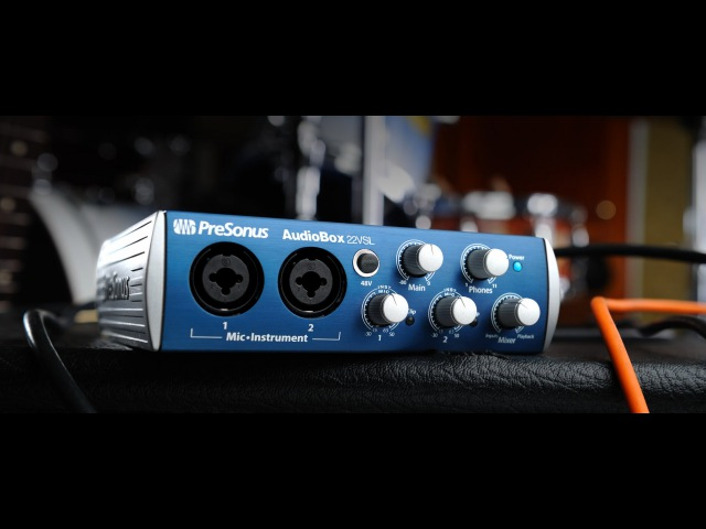 Обзор звуковой карты PreSonus AudioBox 22VSL для домашней студии звукозаписи. .