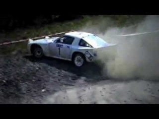 Crazy Group B Mazda RX7 - with pure engine sounds
